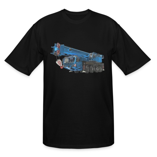 Mobile Crane 4-axle - Blue - Men's Tall T-Shirt