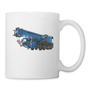 Mobile Crane 4-axle - Blue - Coffee/Tea Mug