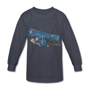 Mobile Crane 4-axle - Blue - Kids' Long Sleeve T-Shirt