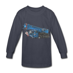 Mobile Crane 4-axle - Blue - Kids' Long Sleeve T-Shirt