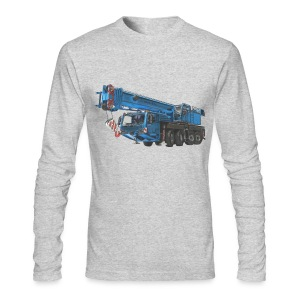 Mobile Crane 4-axle - Blue - Men's Long Sleeve T-Shirt by Next Level