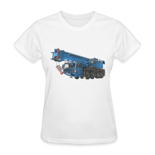 Mobile Crane 4-axle - Blue - Women's T-Shirt