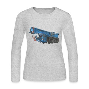 Mobile Crane 4-axle - Blue - Women's Long Sleeve Jersey T-Shirt