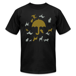 Its raining cats and dogs - Men's T-Shirt by American Apparel