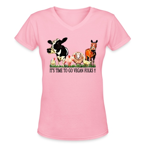 Loving Animals 5 - Women's V-Neck T-Shirt