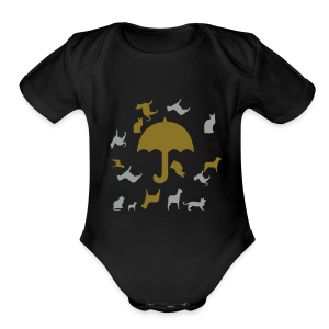 Its raining cats and dogs - Short Sleeve Baby Bodysuit