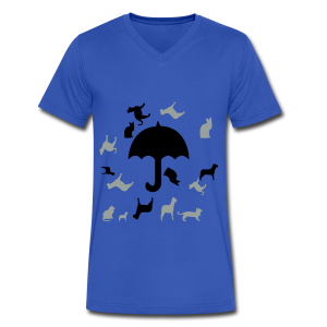 Its raining cats and dogs - Men's V-Neck T-Shirt by Canvas