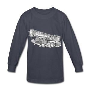 Mobile Crane 4-axle - Kids' Long Sleeve T-Shirt