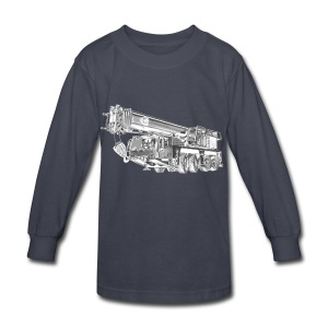 Mobile Crane 4-axle - Kids' Long Sleeve T-Shirt