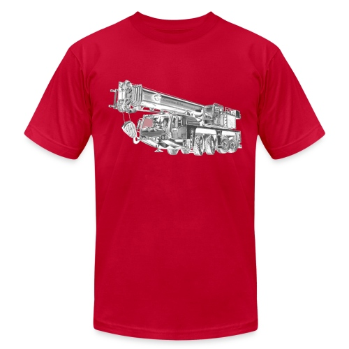 Mobile Crane 4-axle - Men's Fine Jersey T-Shirt