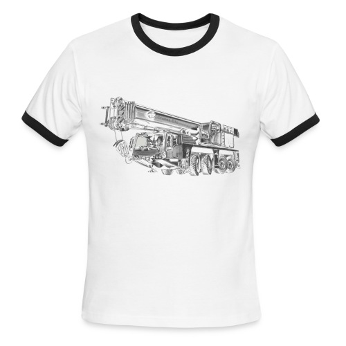 Mobile Crane 4-axle - Men's Ringer T-Shirt