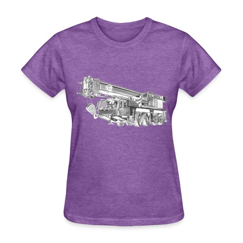 Mobile Crane 4-axle - Women's T-Shirt