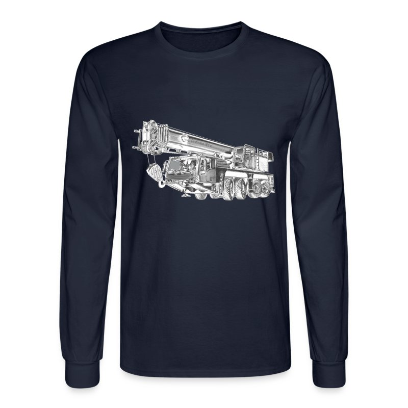 Mobile Crane 4-axle - Men's Long Sleeve T-Shirt