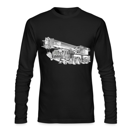 Mobile Crane 4-axle - Men's Long Sleeve T-Shirt by Next Level