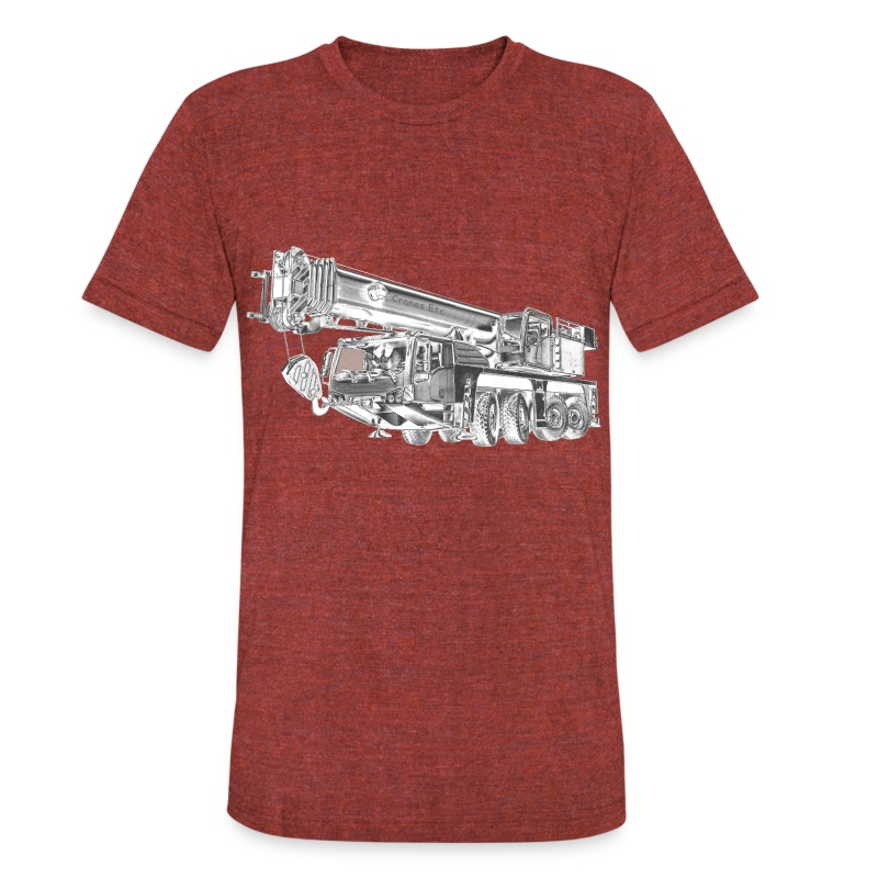Mobile Crane 4-axle - Unisex Tri-Blend T-Shirt by American Apparel