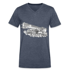 Mobile Crane 4-axle - Men's V-Neck T-Shirt by Canvas