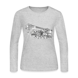 Mobile Crane 4-axle - Women's Long Sleeve Jersey T-Shirt