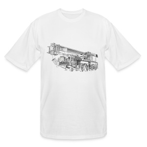 Mobile Crane 4-axle - Men's Tall T-Shirt