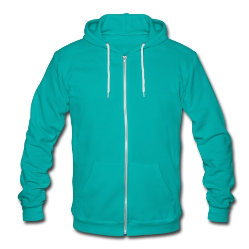 mermaid green jacket - Unisex Fleece Zip Hoodie