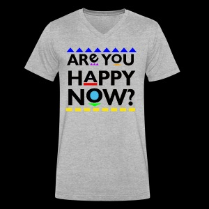 D*mn! Are you happy now? - Men's V-Neck T-Shirt by Canvas