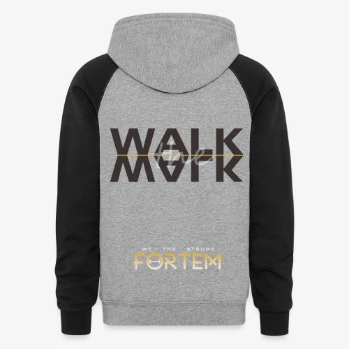 O Logo & Walk the Walk hoodie - Colorblock Hoodie