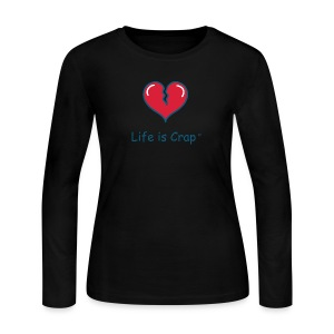 Broken Heart - Womens Longsleeve T-shirt - Women's Long Sleeve Jersey T-Shirt