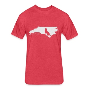 NC Wolfpack T-Shirt - Fitted Cotton/Poly T-Shirt by Next Level