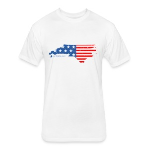 NC USA Flag T-Shirt - Fitted Cotton/Poly T-Shirt by Next Level