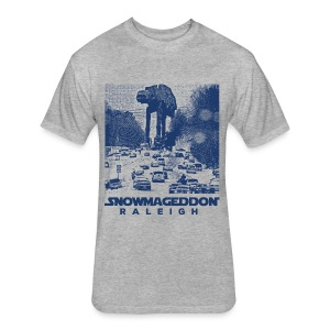 Snowmageddon Raleigh - Fitted Cotton/Poly T-Shirt by Next Level