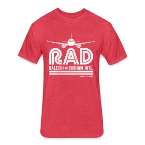 RAD RDU Airport T-Shirt - Fitted Cotton/Poly T-Shirt by Next Level