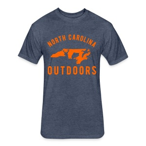 North Carolina Outdoors T-Shirt - Fitted Cotton/Poly T-Shirt by Next Level