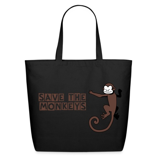 Save The Monkeys - Eco-Friendly Cotton Tote
