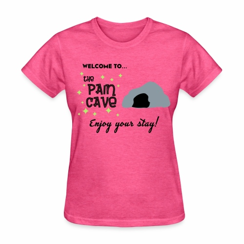 Women's Pain Cave Tee (Heather Pink) - Women's T-Shirt