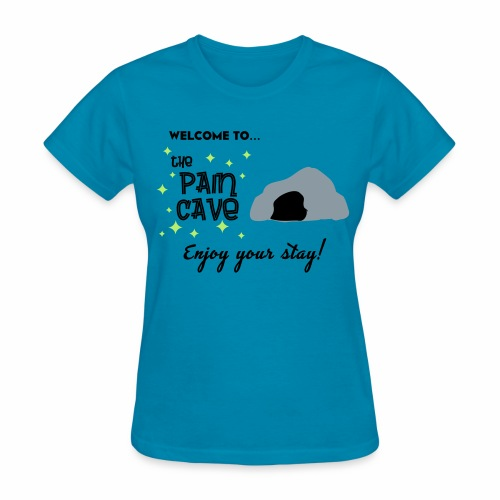Women's Pain Cave Tee (Turquoise) - Women's T-Shirt