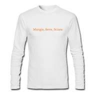 Long Sleeve Shirts ~ Men's Long Sleeve T-Shirt by American Apparel ~ Eat, Drink, Ski L/S