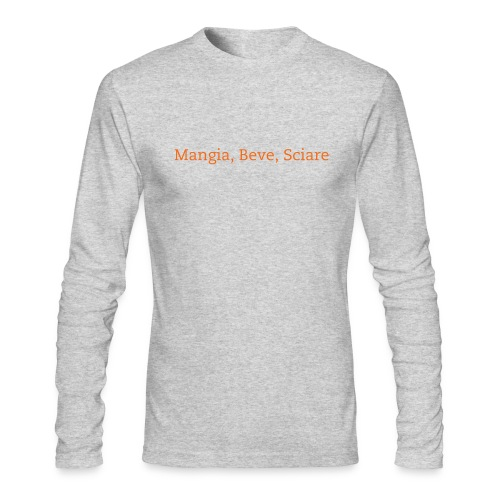 Eat, Drink, Ski L/S - Men's Long Sleeve T-Shirt by Next Level