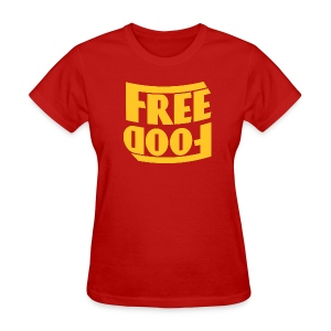 Free Food hanger shirt - Women's T-Shirt