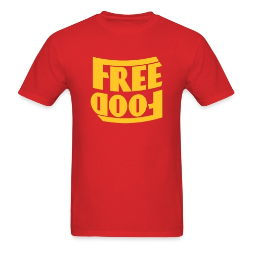 Free Food hanger shirt - Men's T-Shirt