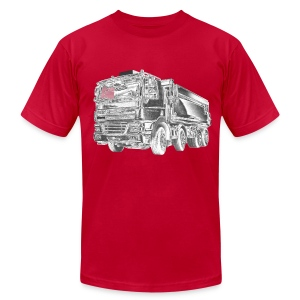Dump Truck 8x4 - Men's T-Shirt by American Apparel