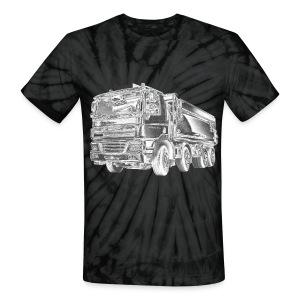 Dump Truck 8x4 - Unisex Tie Dye T-Shirt