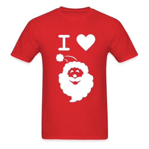 I LOVE SANTA CLAUS - Men's T-Shirt - Men's T-Shirt