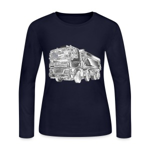 Dump Truck 8x4 - Women's Long Sleeve Jersey T-Shirt