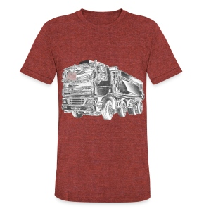 Dump Truck 8x4 - Unisex Tri-Blend T-Shirt by American Apparel