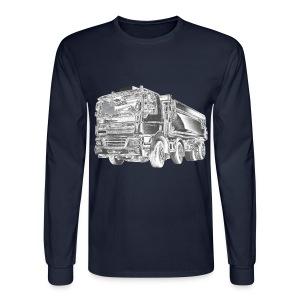 Dump Truck 8x4 - Men's Long Sleeve T-Shirt