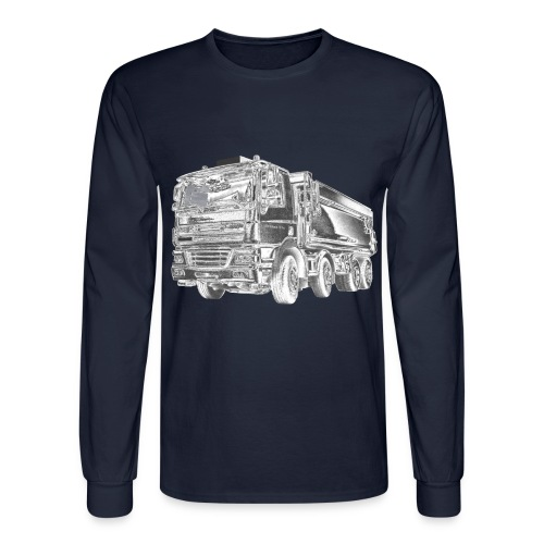 Dump Truck 8x4 - Men's Long Sleeve T-Shirt