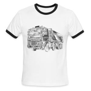 Dump Truck 8x4 - Men's Ringer T-Shirt