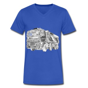 Dump Truck 8x4 - Men's V-Neck T-Shirt by Canvas