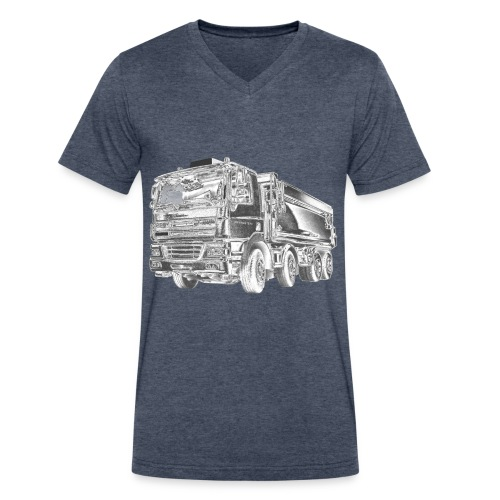 Dump Truck 8x4 - Men's V-Neck T-Shirt by Canvas