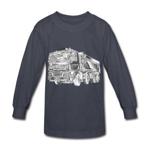Dump Truck 8x4 - Kids' Long Sleeve T-Shirt