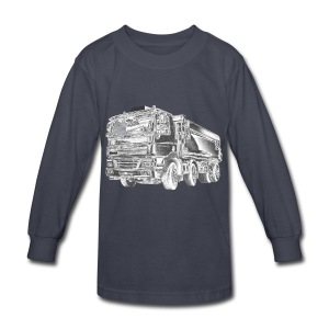 Dump Truck 8x4 - Kids' Long Sleeve T-Shirt